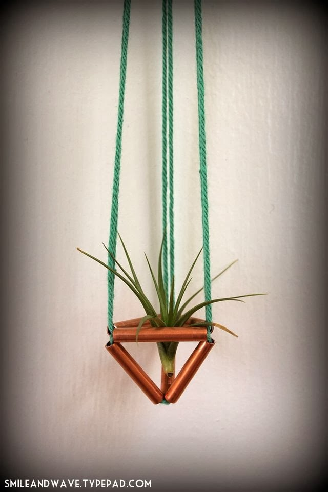 diy himmeli air plant hanger from smile wave