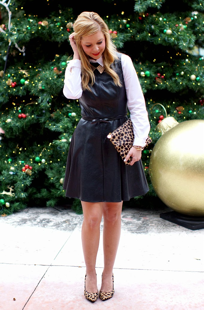 black and white holiday outfit idea