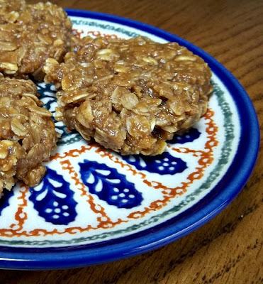 Caramel Oat No Bake Cookies