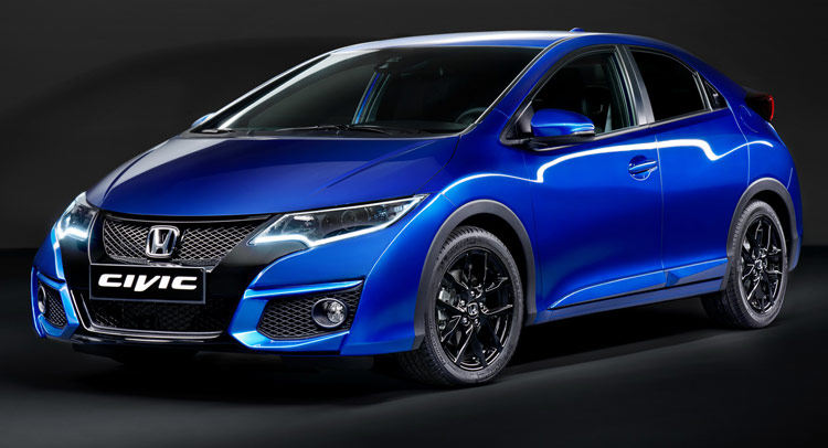 facelifted 2015 honda civic gets new type r inspired. Black Bedroom Furniture Sets. Home Design Ideas