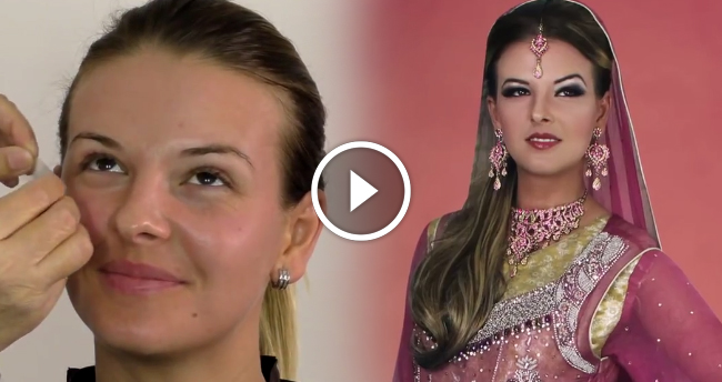 Arabian Style Asian Bridal Makeup Tutorial 2015