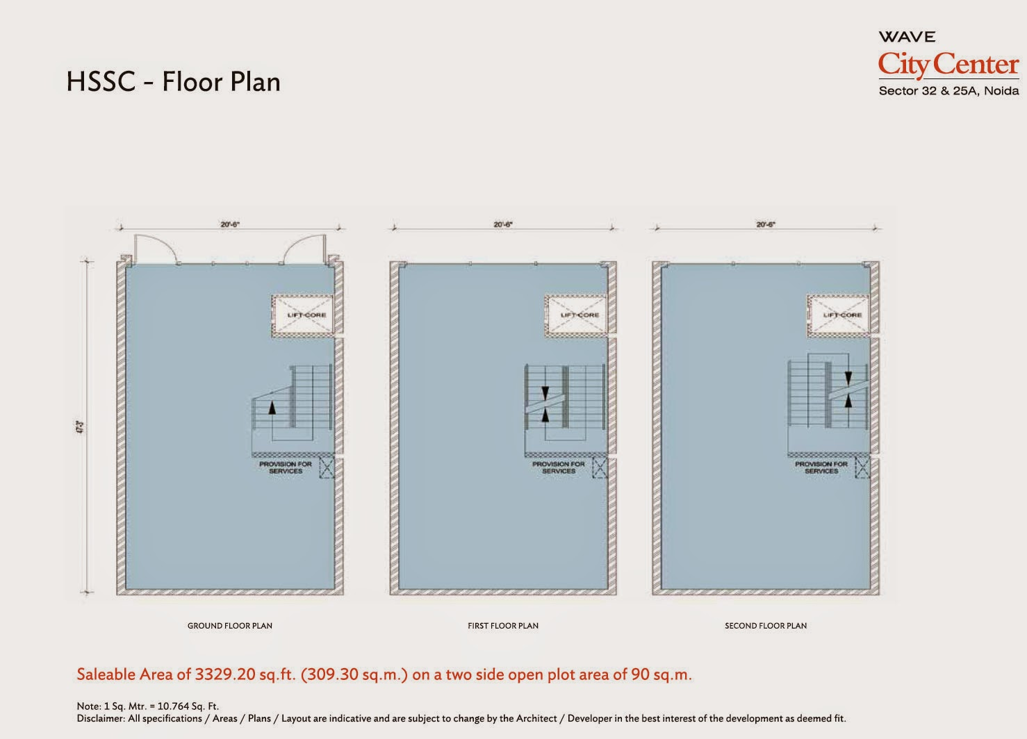 Floor Plan of High Street Shop Condominiums 3329.2 Sq Ft.