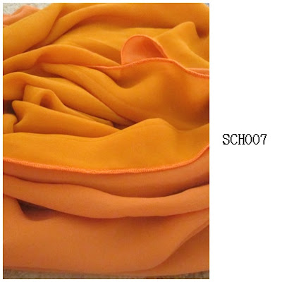 shawl chiffon 2 layer yellow mustard light oren