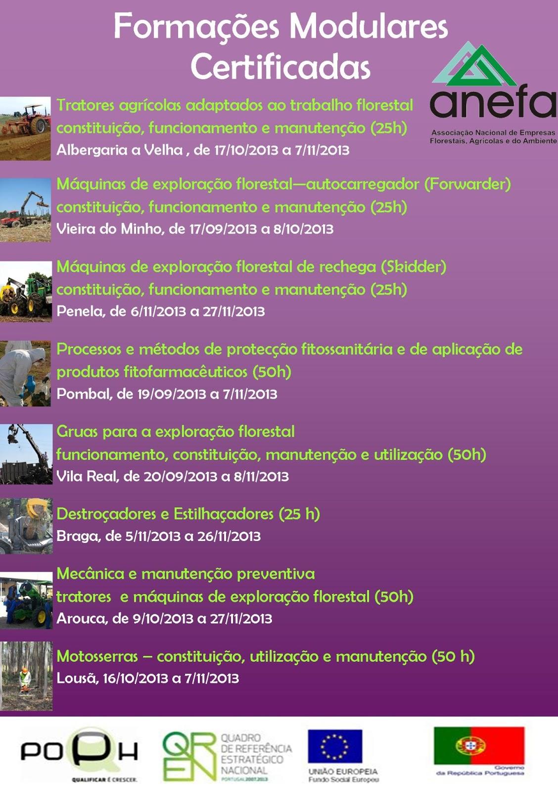 Formação gratuita para associados da ANEFA – Braga, Vila Real, Vieira do Minho, Arouca, Albergaria-a-Velha, Penela, Pombal, Lousã