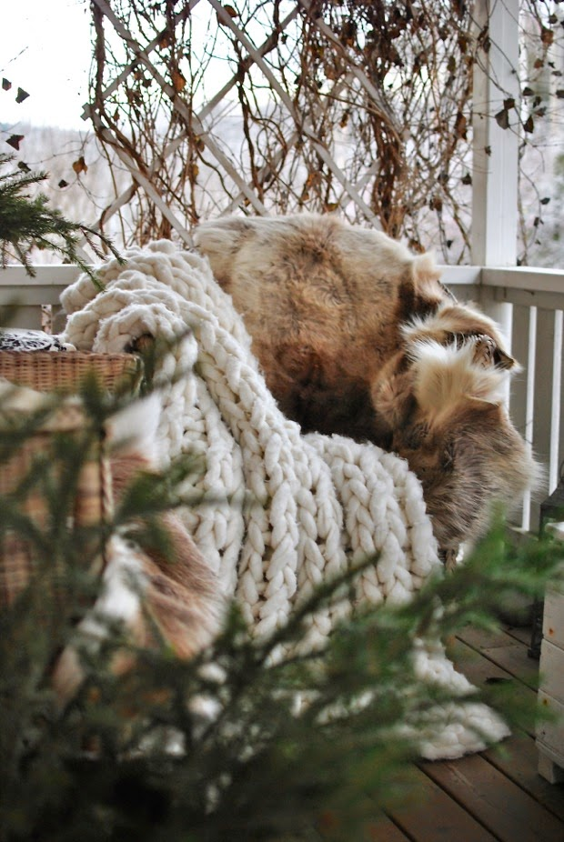 renfäll modernwool ullpläd chunky knit