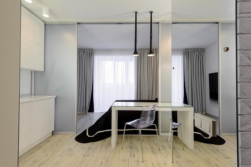 Дизайн студии 15 кв.м фото