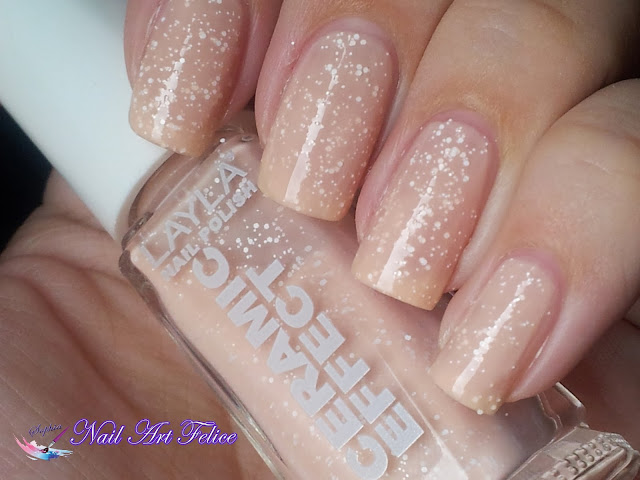CE101 Bleached Peach - Ceramic Sorbet Effect Layla - Swatch01 - Nail Art Felice