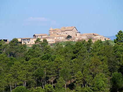La masia de La Cortada des de la Baga de Cal Rossinyol