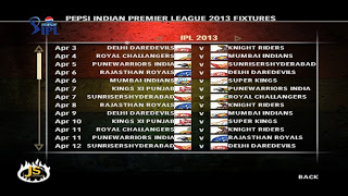IPL Cricket 2013 screen shot