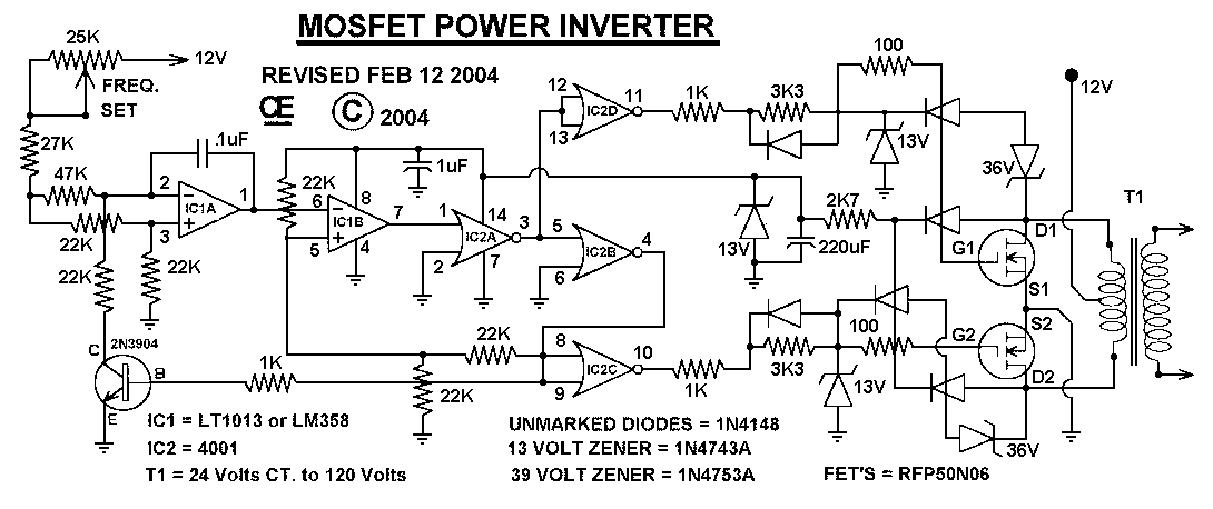 12V Dc To 220V Ac Converterinverter Circuit Design readingratnet