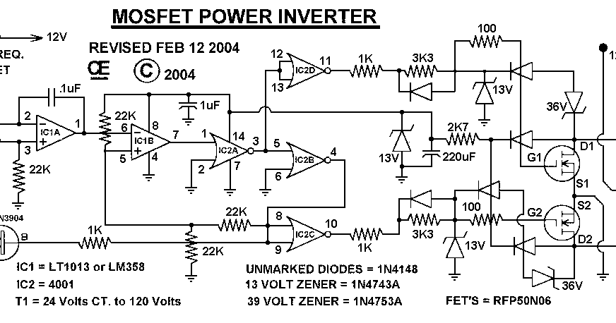 Circuit Diagram Of 100 Watt Inverter