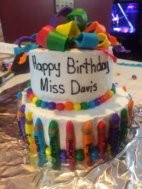 Erins Cakes Teacher Birthday Cake