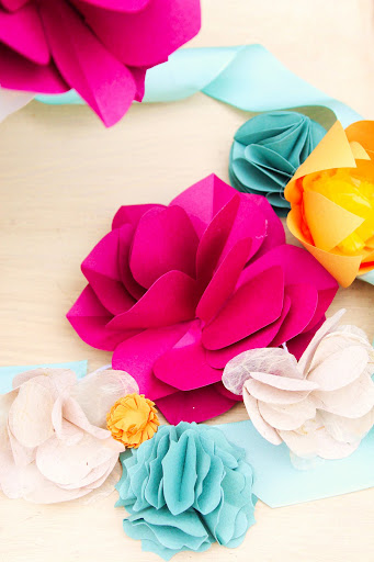 Icing designs diy paper flowers canson colorline art paper in any color you wish this paper is the easiest to manipulate for paper flowers rather than heavier card stock mightylinksfo