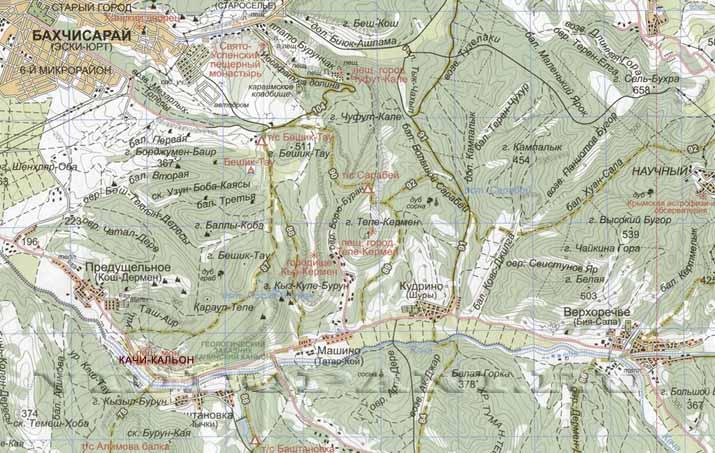 Kachi-Kalon na karte Kryma