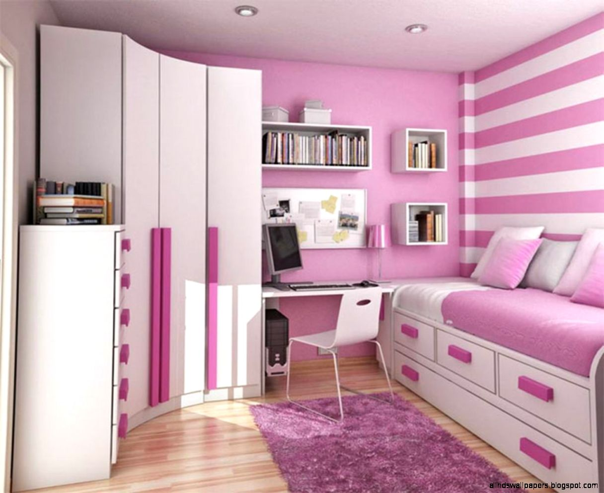 Entrancing Bedroom Pink Wallpaper Ideas For Teens Interior
