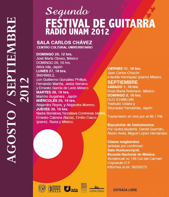 Festival de la Guitarra 2012 organizado por Radio UNAM
