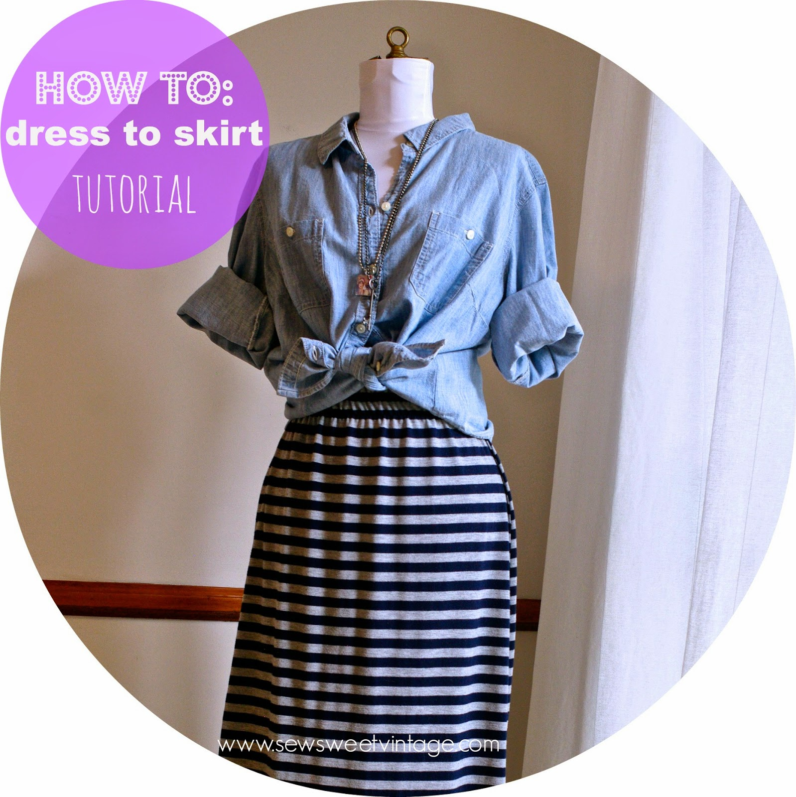 sew sweet vintage how to refashion a maxi dress into a skirt