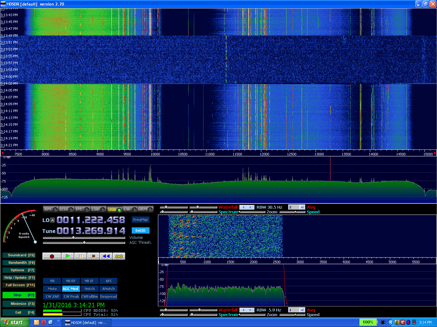 IC-7300 Adjustable Spectrum Scale