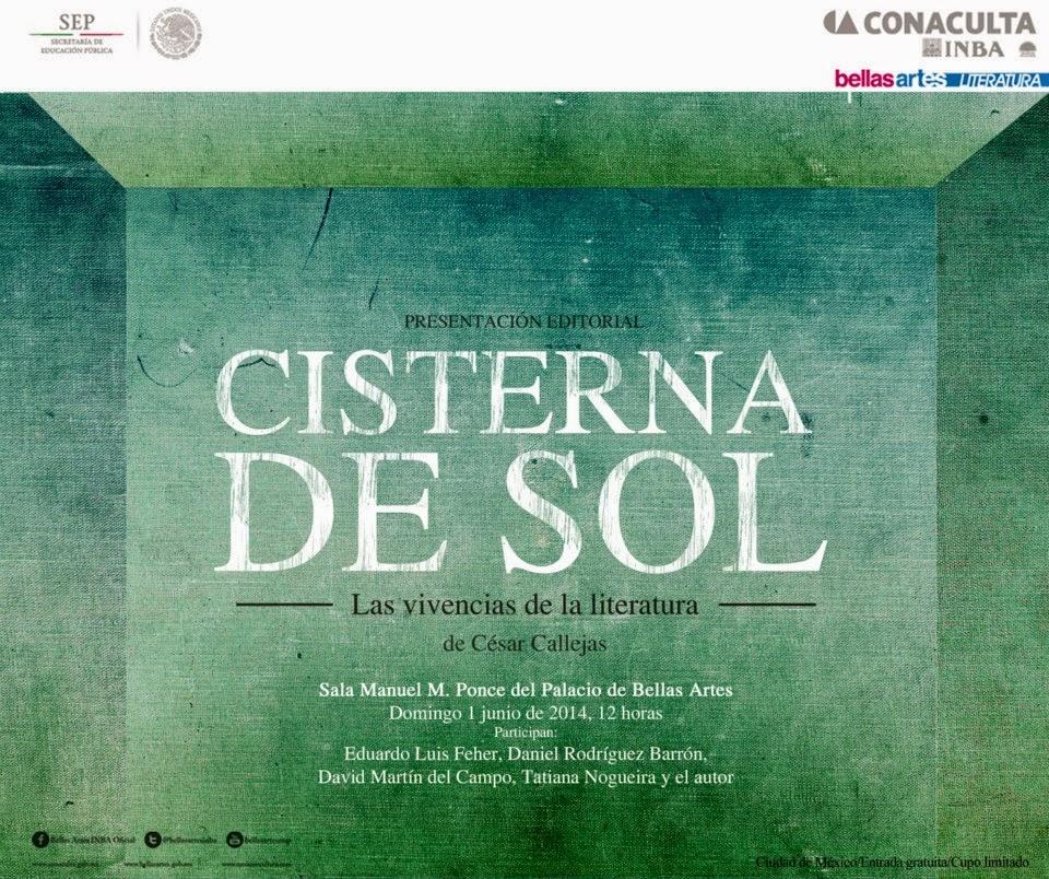 """Presentarán el libro """"Cisterna del Sol: Vivencias de la Literatura"""" de Benedicto Callejas"""