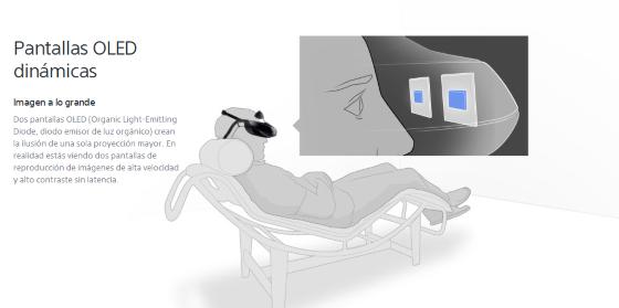 visualización hmz-t3 de la página de Sony