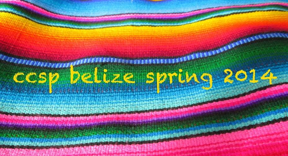 CCSP Belize Spring 2014