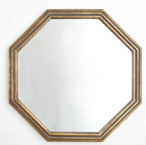 Gilded Octagon Mirror by Wisteria