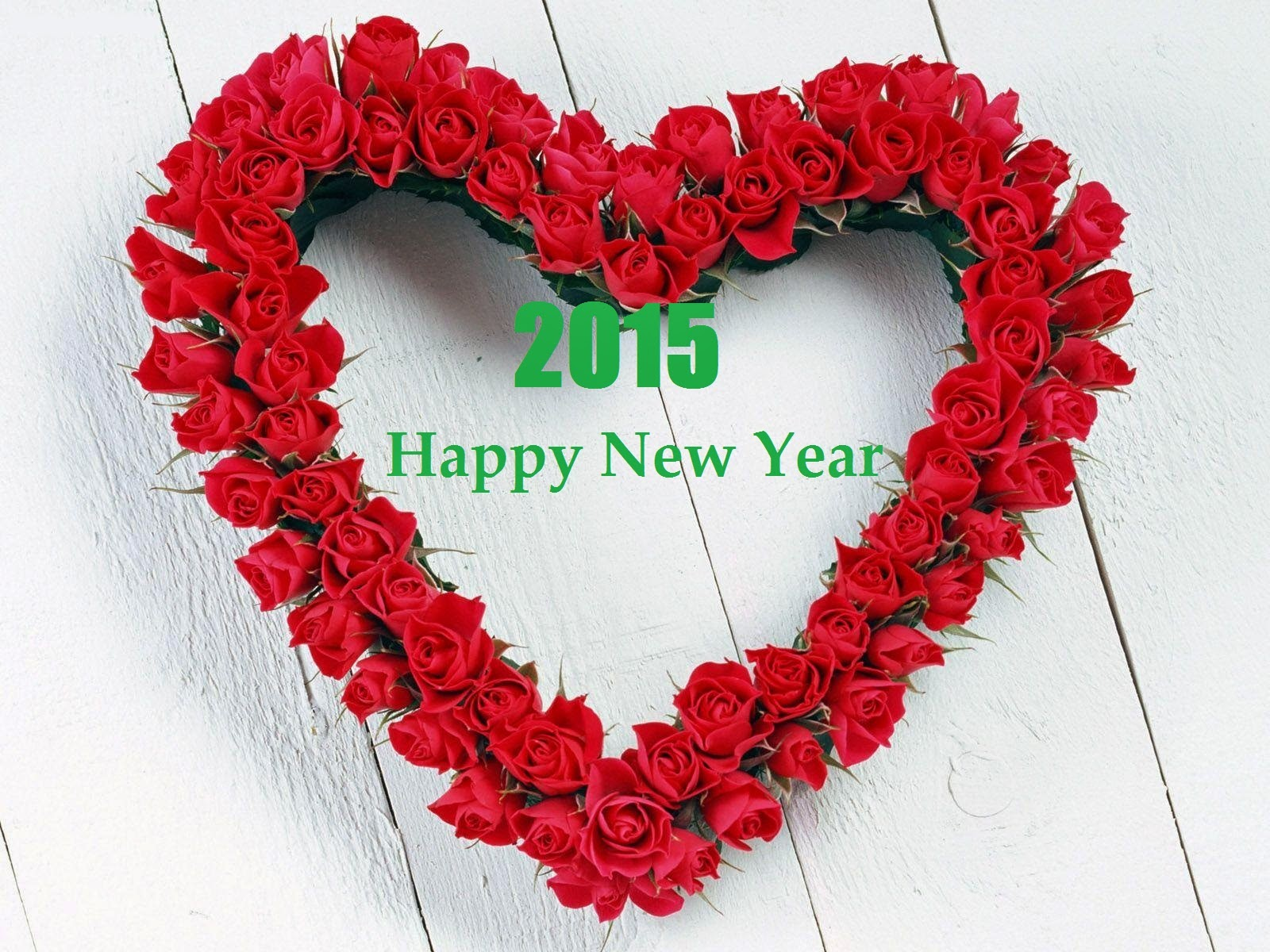 heart shape roses new year greetings latest wallpaper