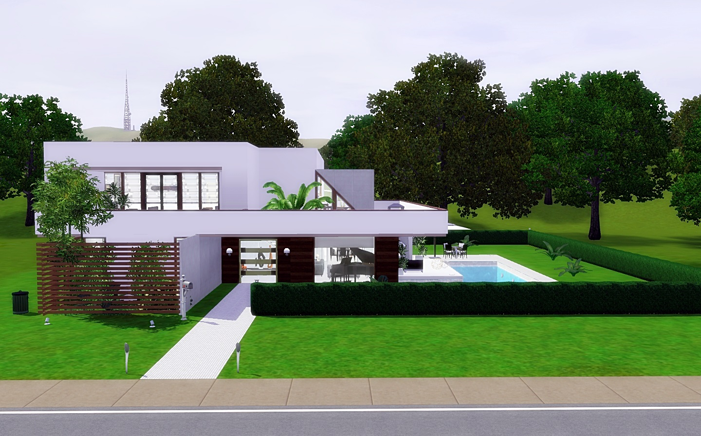 For my sims modern cozy house from via sims for Modern house 3