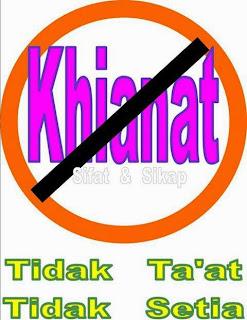 Sifat dan Sikap Khianat