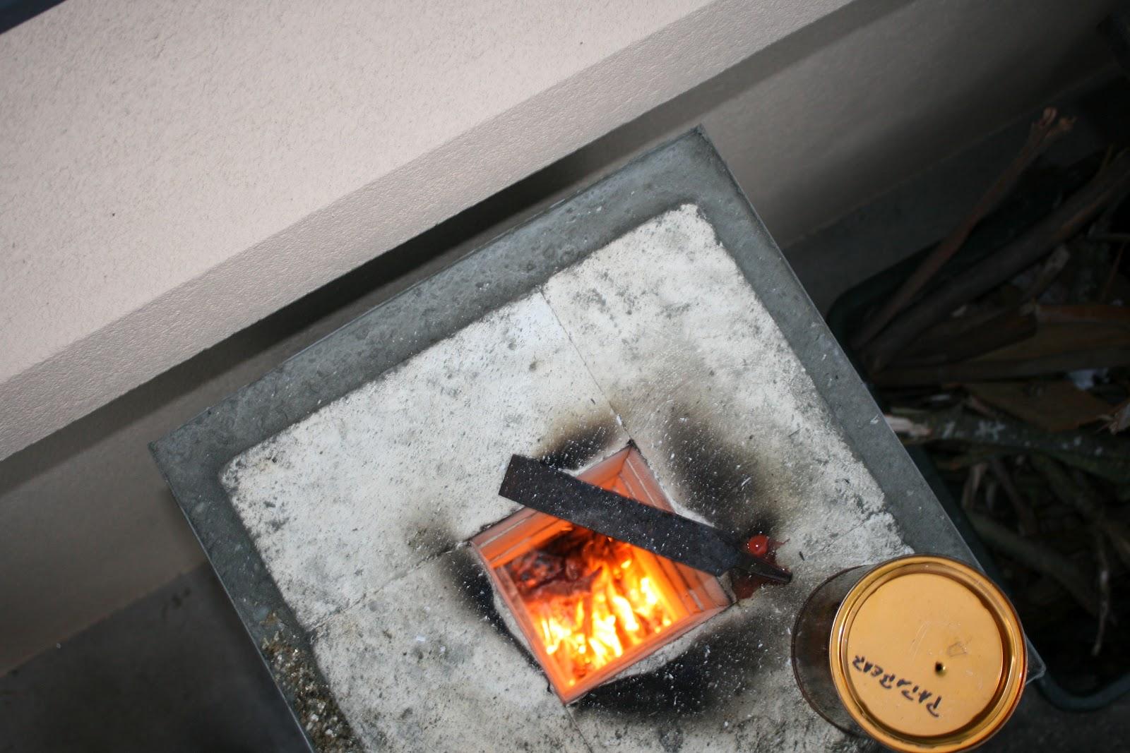 Rocket Stove Gets First Fire Lighted Oldbear News