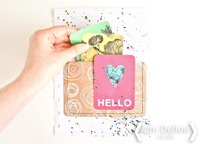 A mixed Media planner pocket page tutorial