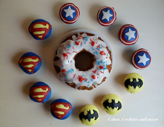 Captain America, Batman, Superman Cupcakes