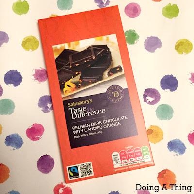 Sainsburys Candied Orange Dark Chocolate