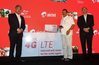 Mr. Sanjay Kapoor, CEO – India & South Asia, Bharti Airtel; Shri D V Sadananda Gowda, Hon'ble Chief Minister of Karnataka; Mr. K Srinivas, President - Consumer Business, Bharti Airtel