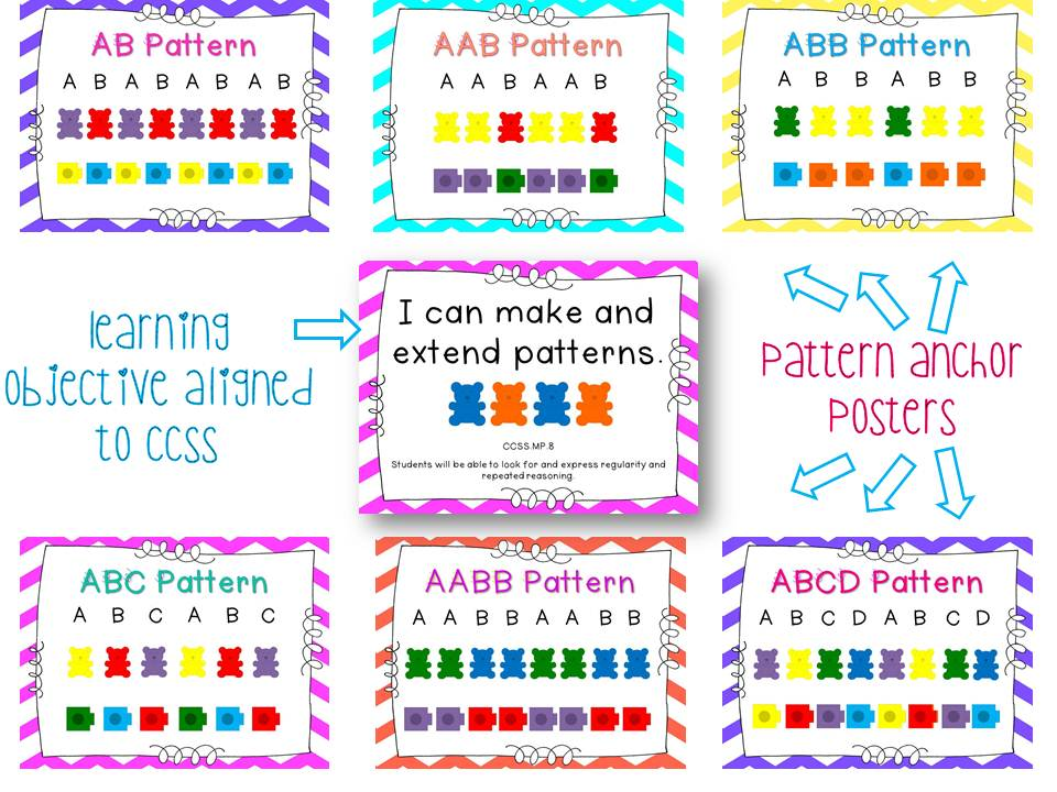 Adventures in Kindergarten: GIGANTIC Patterns Unit!