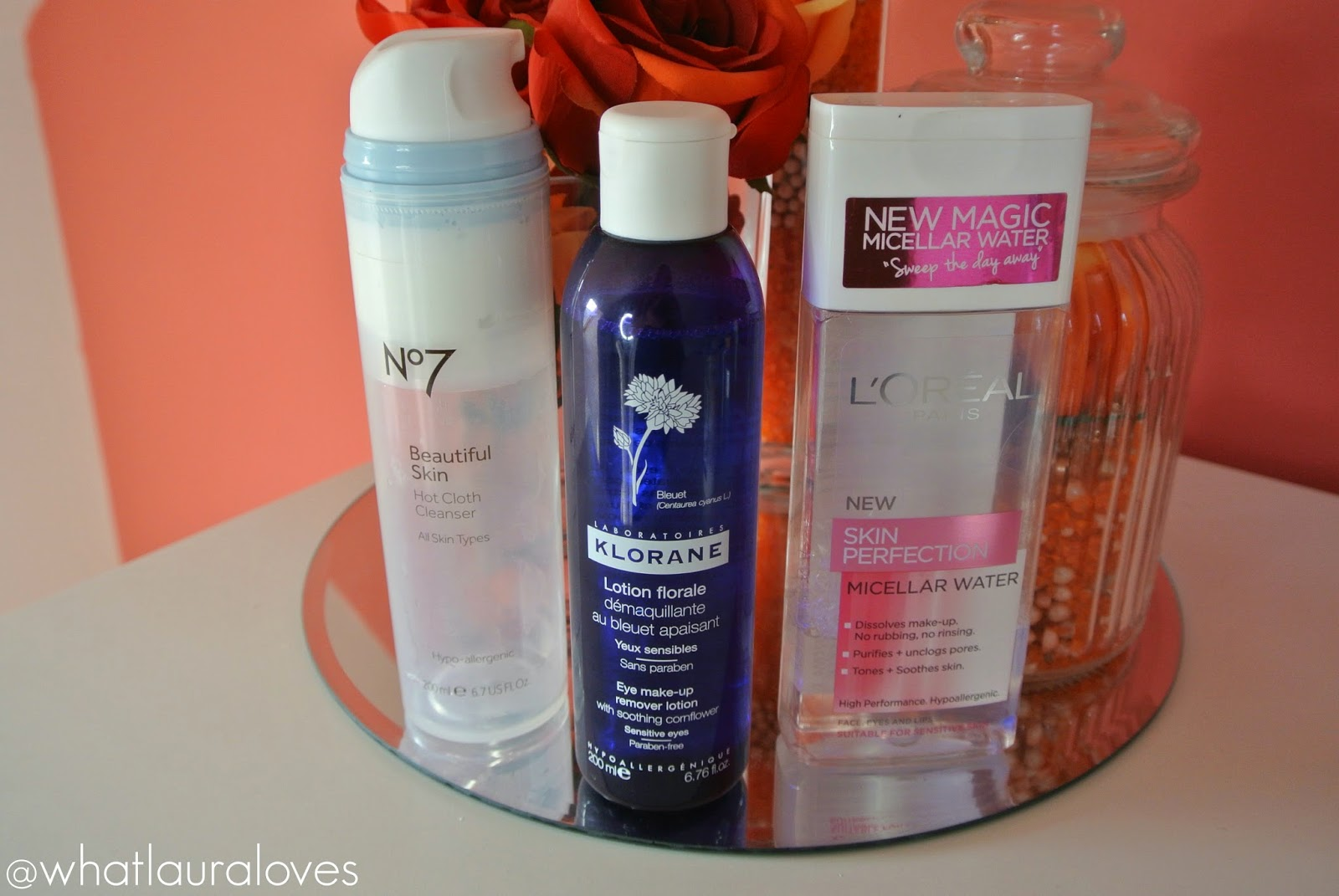 No7 Hot Cloth Cleanser, Klorane Eye Makeup Remover, L'Oreal Micellar