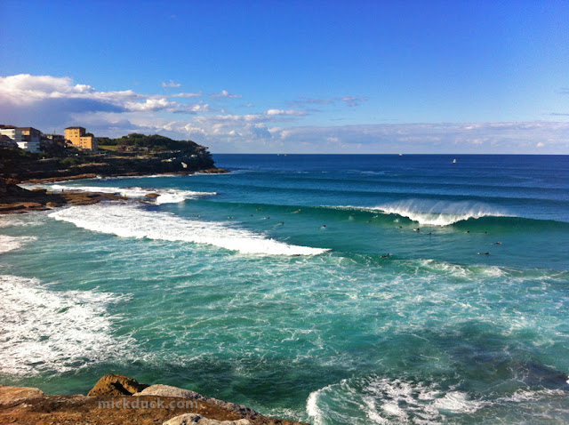 surfing line up waves at tamarama beach sydney australia