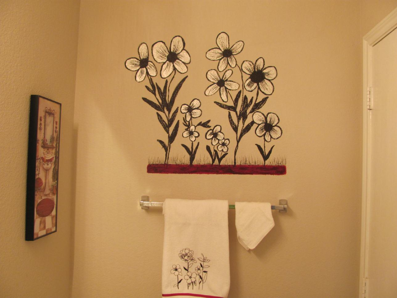 Dolls Are My Canvas Within My Soul Paint Flowers On Bathroom Wall