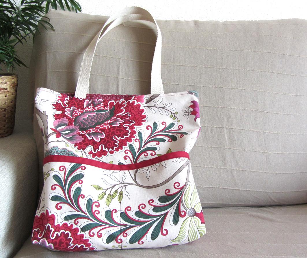 tutorial de como hacer un tote bag patrones gratis como hacer un bolso de tela forrado y. Black Bedroom Furniture Sets. Home Design Ideas