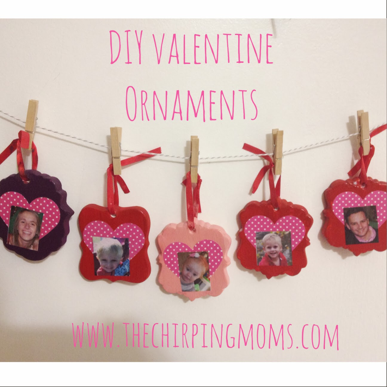 DIY Valentine Family Ornaments