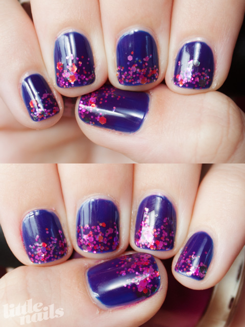 Glittery Jelly Manicure - little nails