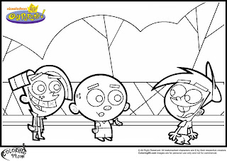 fairly odd parents aj timmy chester coloring pages