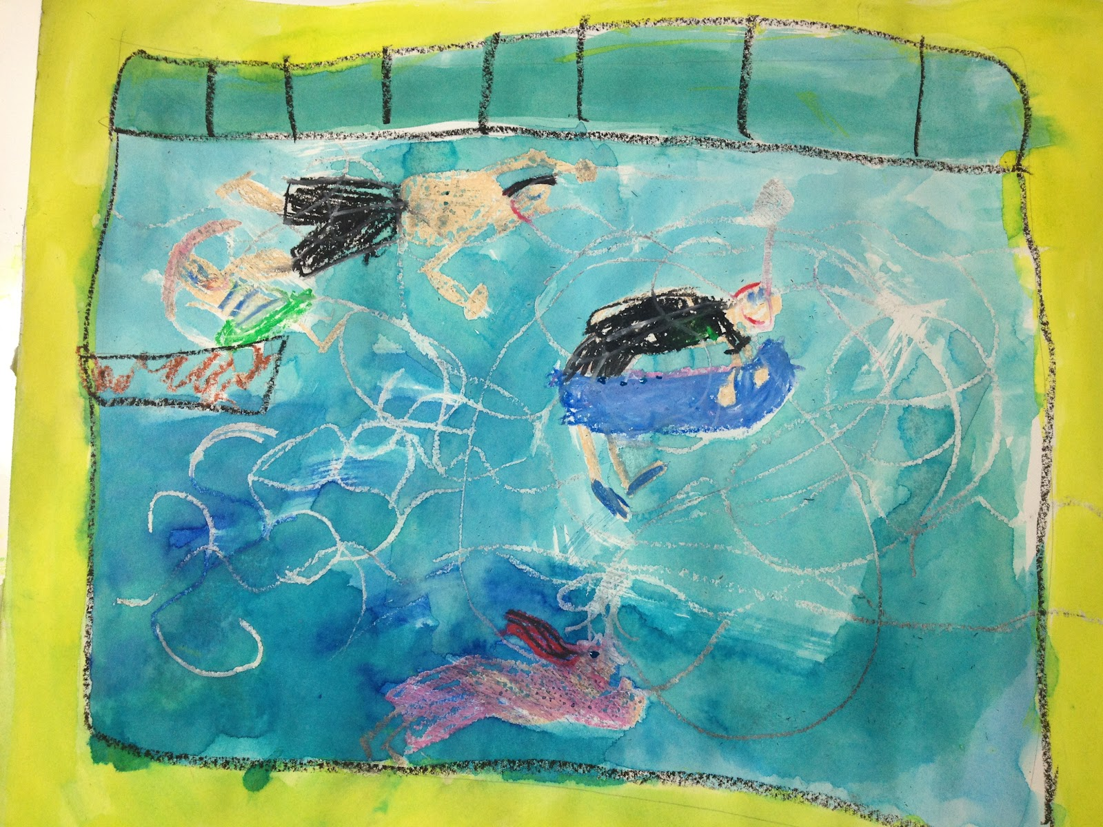 Artfully Me Swimming Pool Art David Hockney Inspired Lesson With Sydney Alaina Katelyn