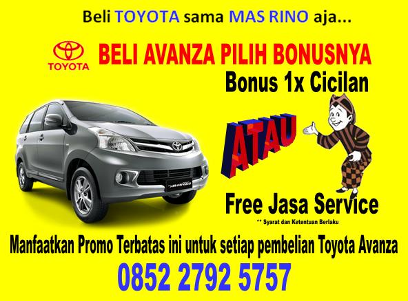 Promo Mobil Toyota Avanza Akhir Tahun