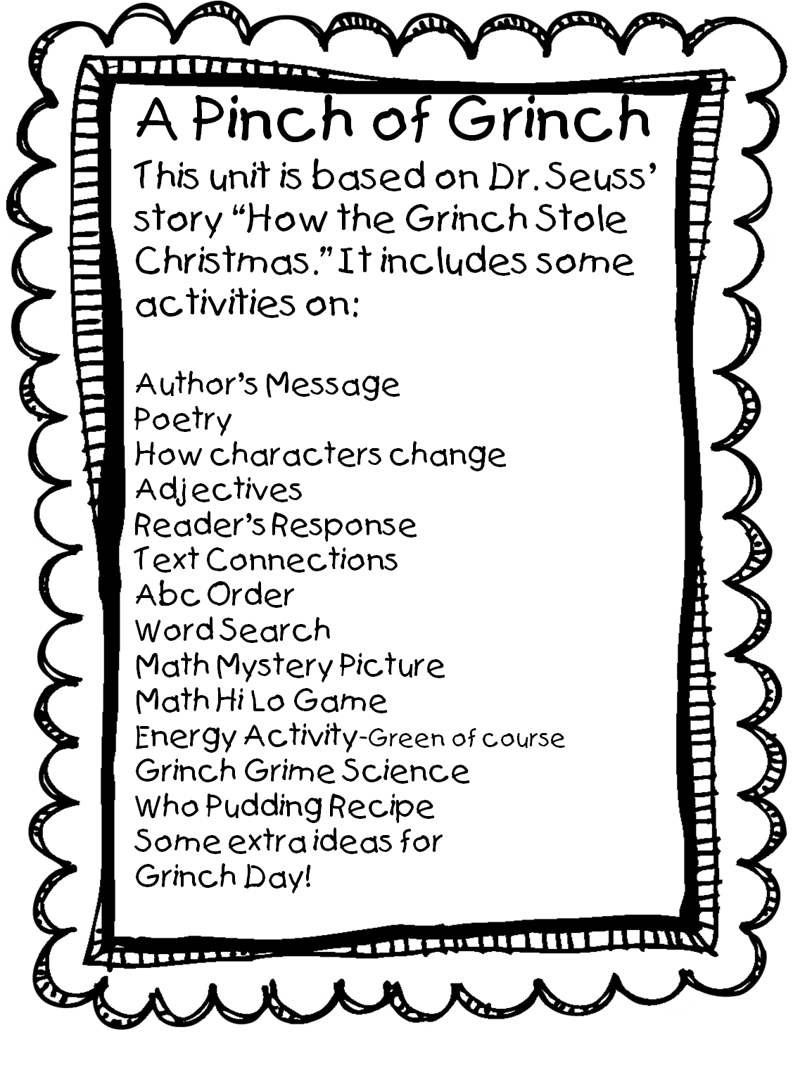 Search results for grinch color pages free printable primary grade