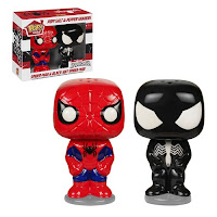Pop! Home Salt & Pepper Spiderman & Black Suit Spiderman