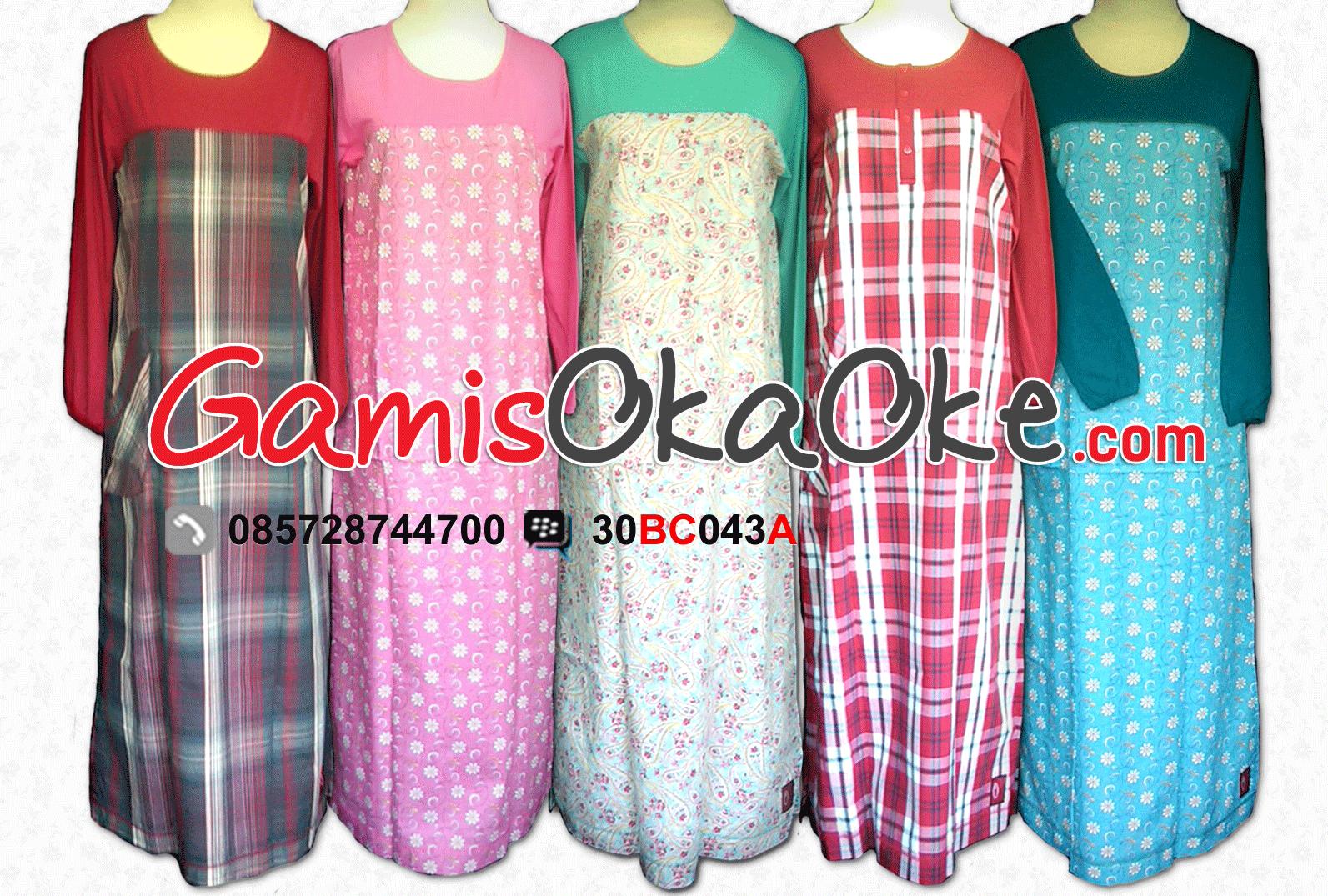 Baju-Muslim-Model-Gamis-Untuk-Wanita-Dewasa-harga-Murah-Bahan-Kaos ...