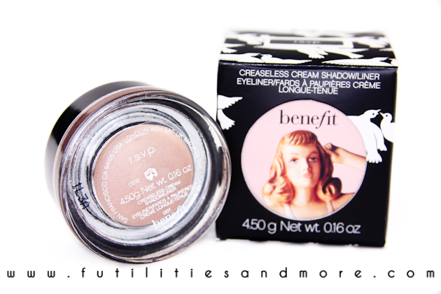 Benefit Creaseless cream shadowliner – RSVP review and swatch