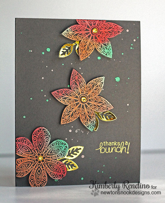 Multi-colored Flower Card by Kimberly Rendino | Beautiful Blossoms stamp set by