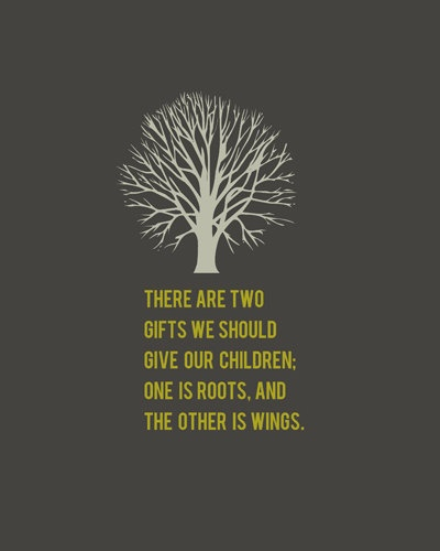 there are two gifts we should give our children one is
